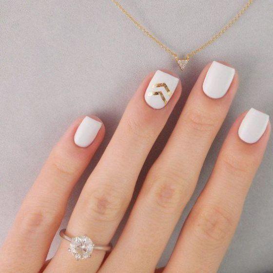 uñas blancas | nails | Pinterest | Uñas blancas, Diseños de uñas y ...