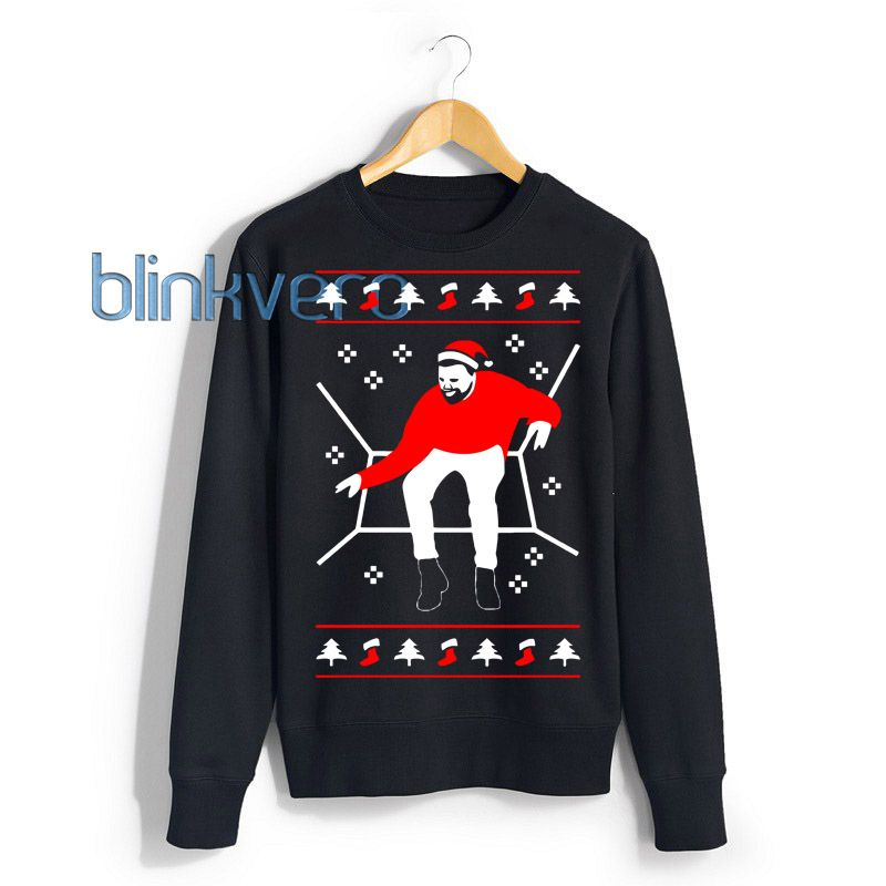 FUNNY DRAKE HOTLINE BLING UGLY CHRISTMAS SWEATER