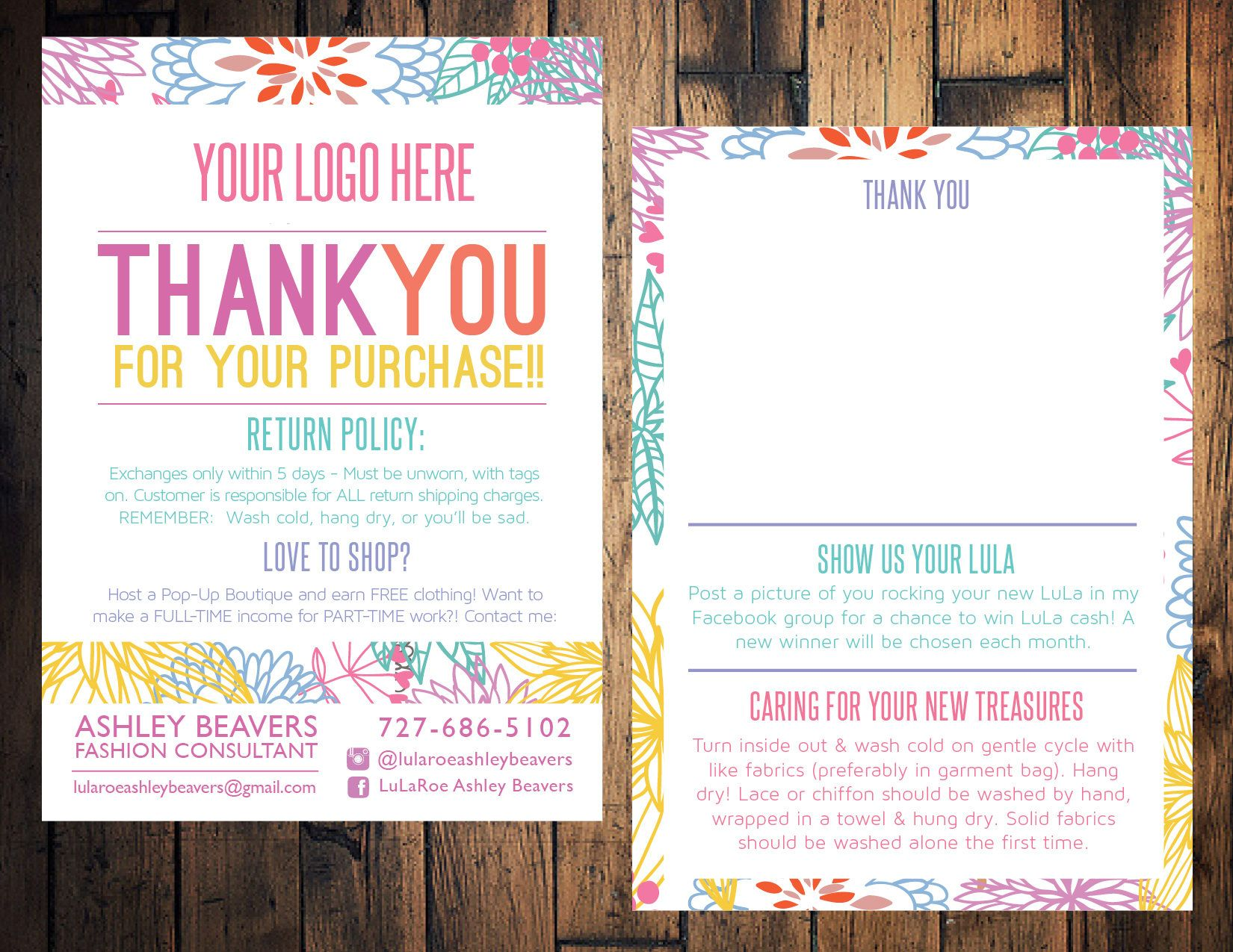 Floral clothing care card sales thank you card sales card sales floral clothing care card sales thank you card sales card sales blitz kristyandbryce Images