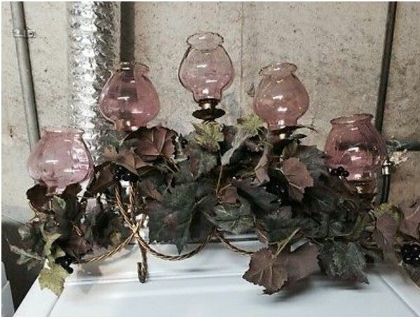 5 cup sconce w cranberry celeste votive cups greenery home