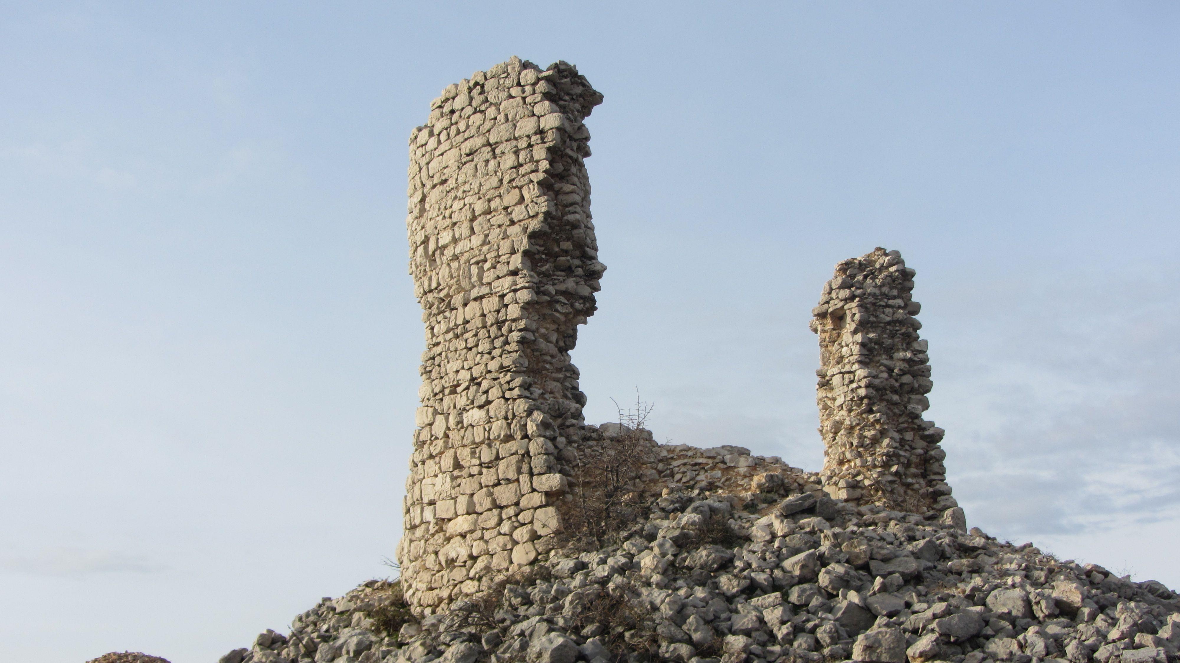 Leftovers Of The Tower On The Hill Kastelina Near Kasic Banjevci Sibenik Knin County Sibenik Beautiful Croatia