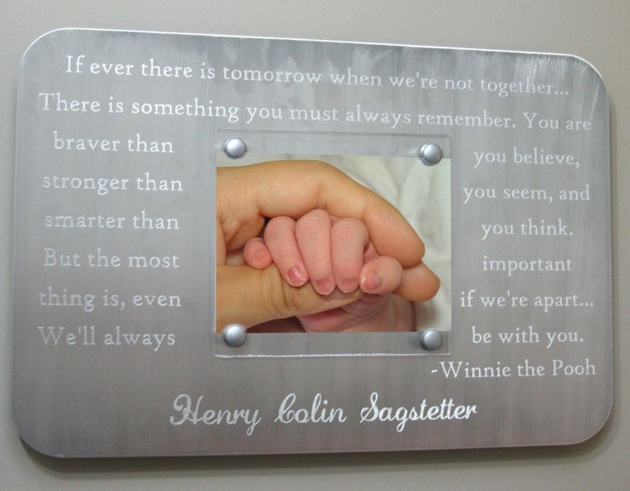 Winnie pooh quote. Newborn Engraved Picture Frame - Suspended ...