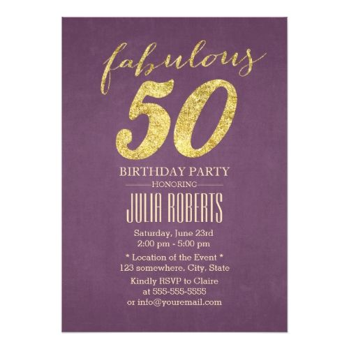 Classy purple gold fabulous 50 birthday card 50th birthday cards classy purple gold fabulous 50 birthday card 50th birthday cards purple gold and 50 birthday parties bookmarktalkfo Images