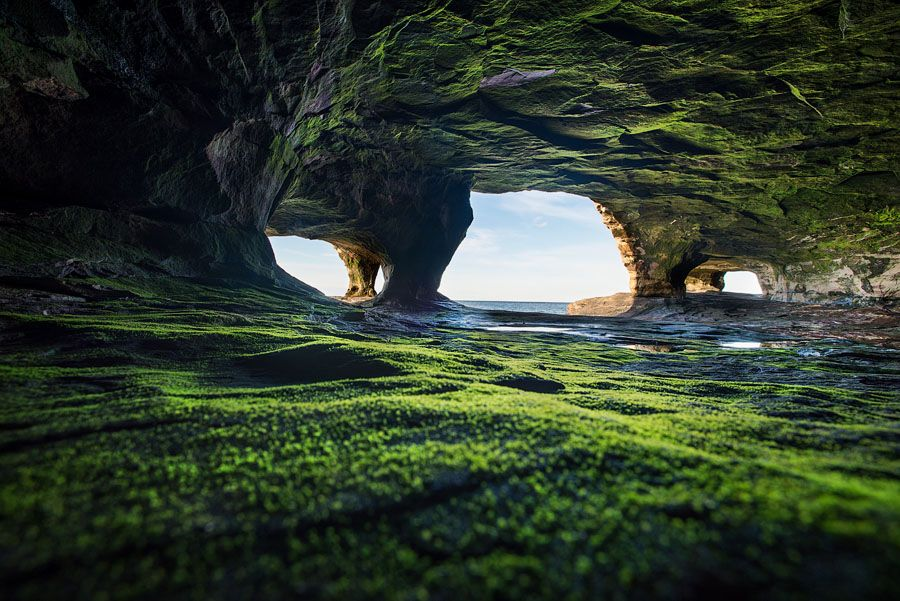 Paradise Point Sea Cave Lake Superior 1578s Places I