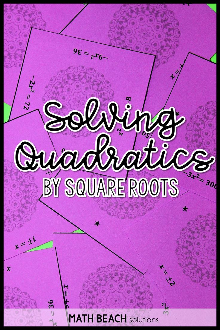 Solving Quadratics Using Square Roots Solutions