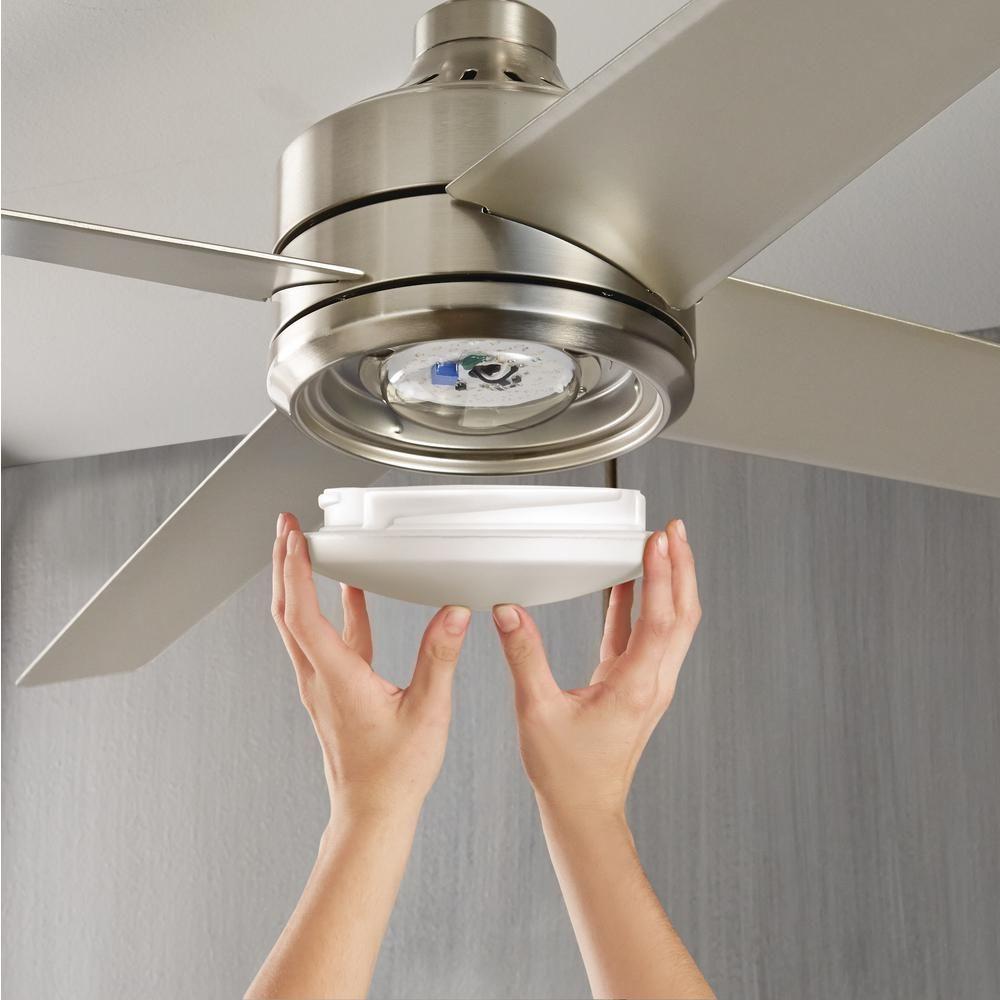 Home Decorators Collection Mercer 52 In Led Indoor Brushed Nickel