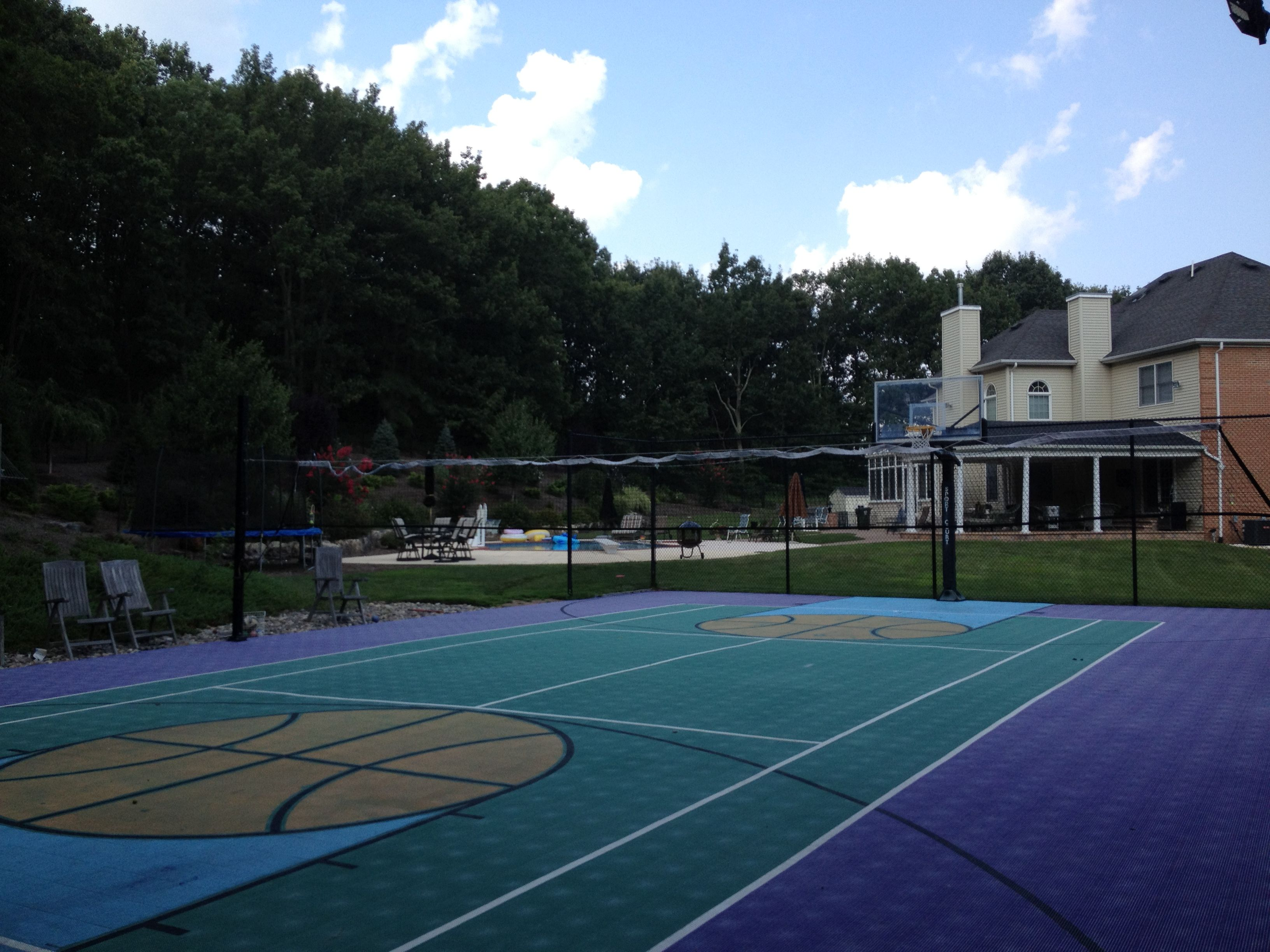full size backyard basketball court full basketball courts
