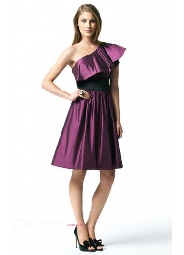 A-Line Ruffles Satin Petite Formal Dresses
