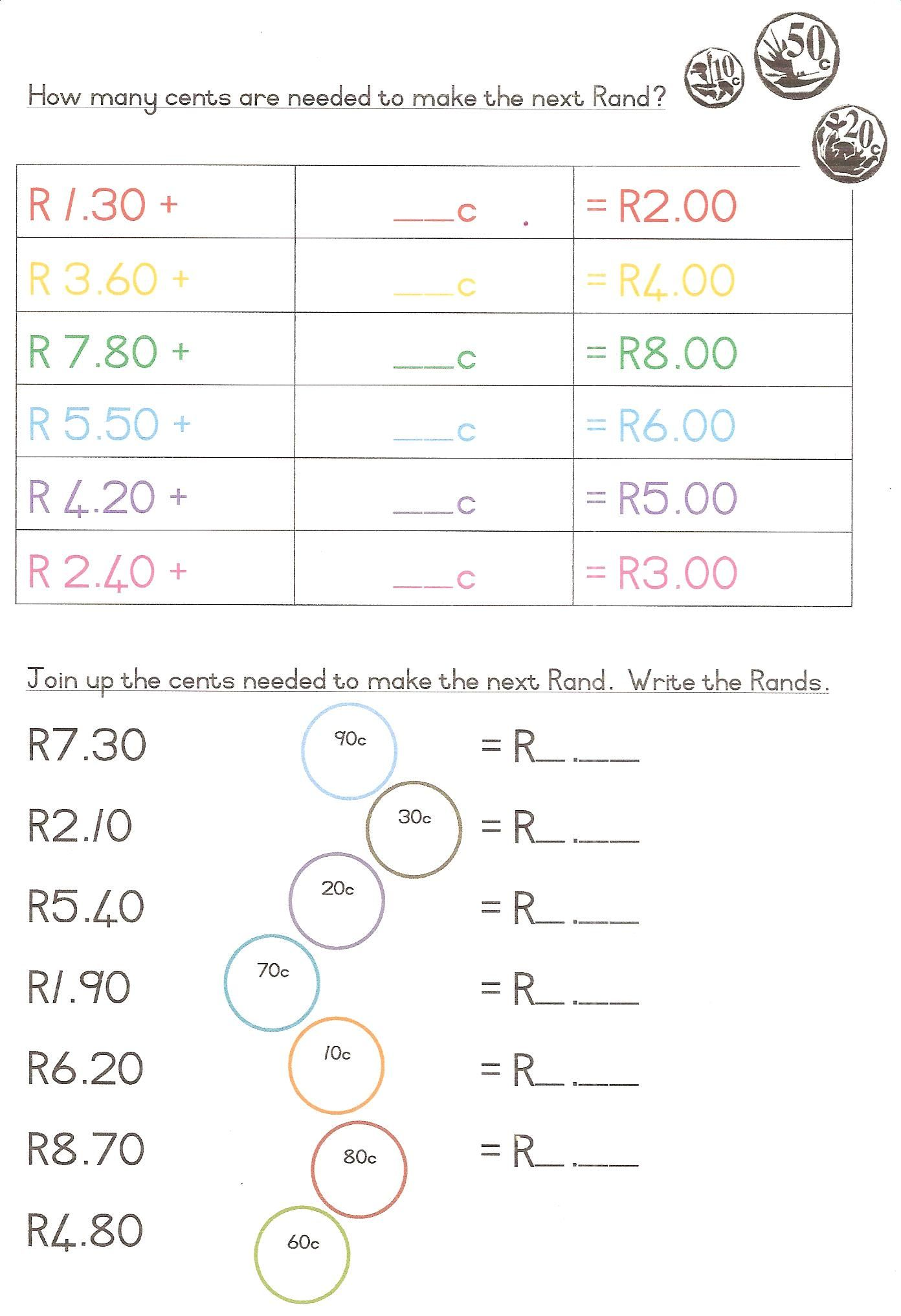 hight resolution of Blog Changing Money 001   Money worksheets