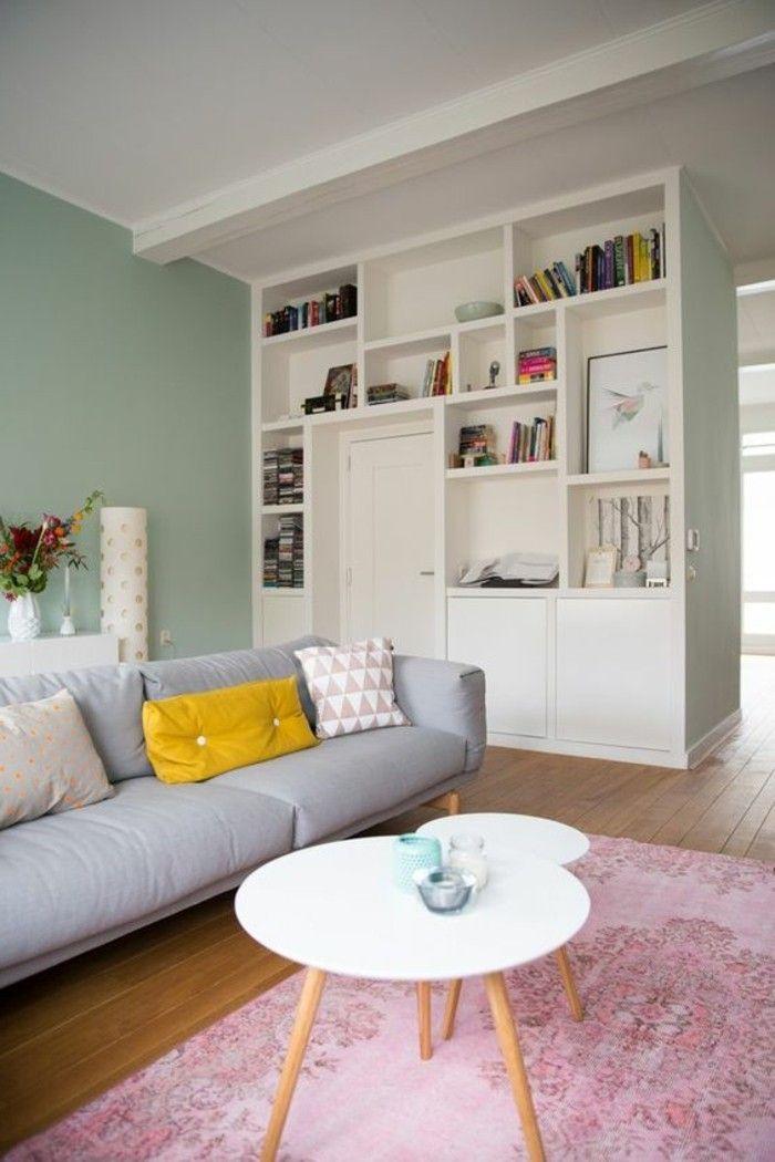 wohnzimmer archzine farbgestaltung grau rosa altrosa holzboden artikel einrichtung weis teppich