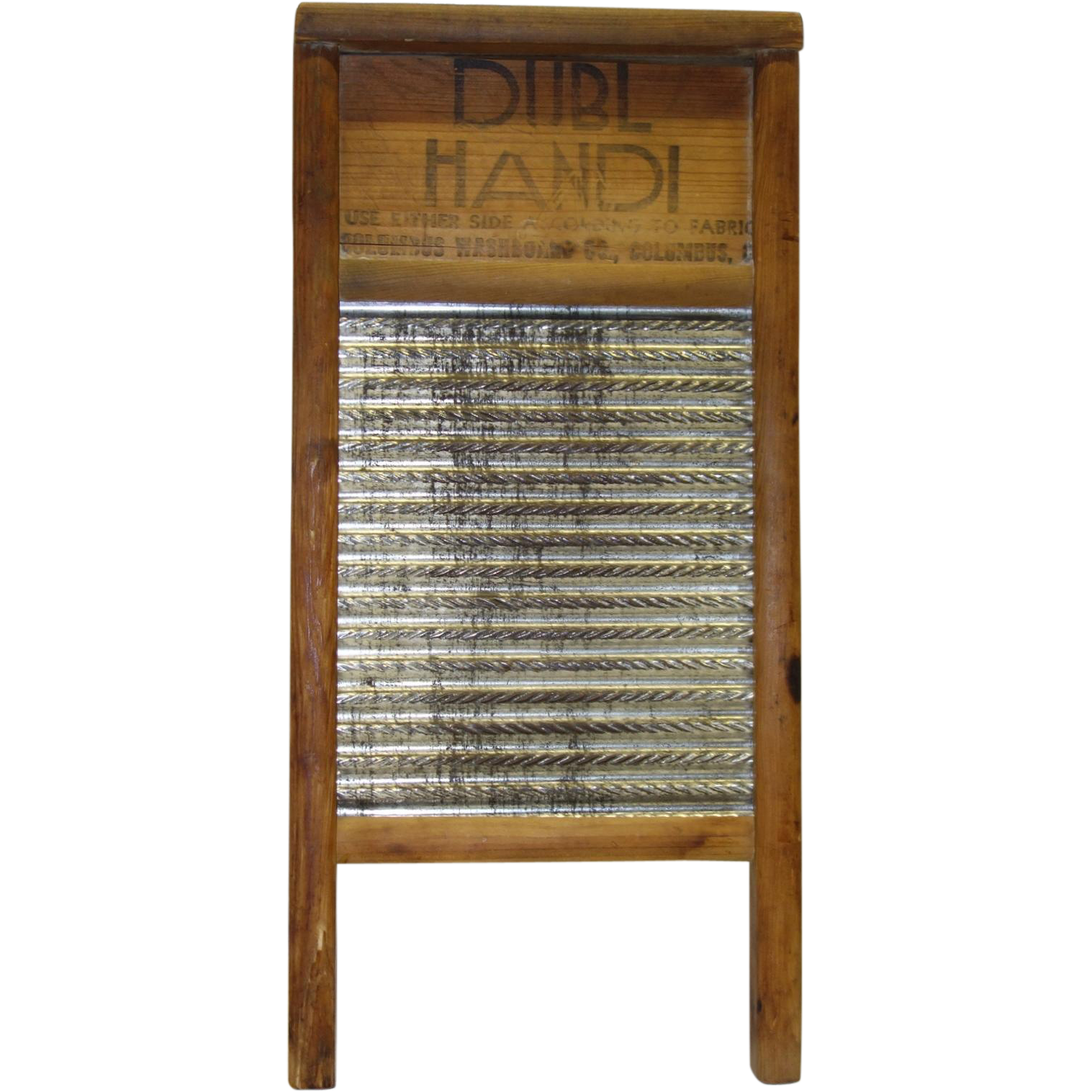 Vintage Dubl Handl Washboard By The Columbus Washboard Co Washboard Old Washboards Vintage