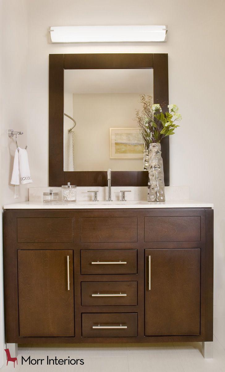 Aria At Portwalk Place   Portsmouth, NH Bathroom #interiordesign #design # Designer #coral #bathroom #mirror
