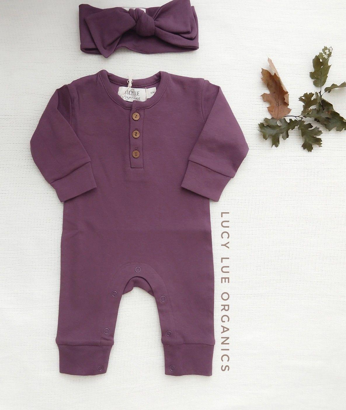 , #trendy baby clothing organic long sleeve romper | plum, My Babies Blog 2020, My Babies Blog 2020
