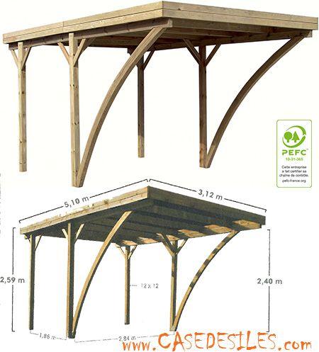 Carport Bois Avec Couverture 15 91mc 0700210 Pas Cher Casedesiles Com Carport Bois Bois Jardin Mediterraneen