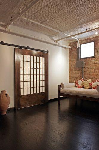 Z Loft Modern Living Room New York Rodriguez Studio Architecture Pc Barn Style Doors Modern Barn Door Doors Interior