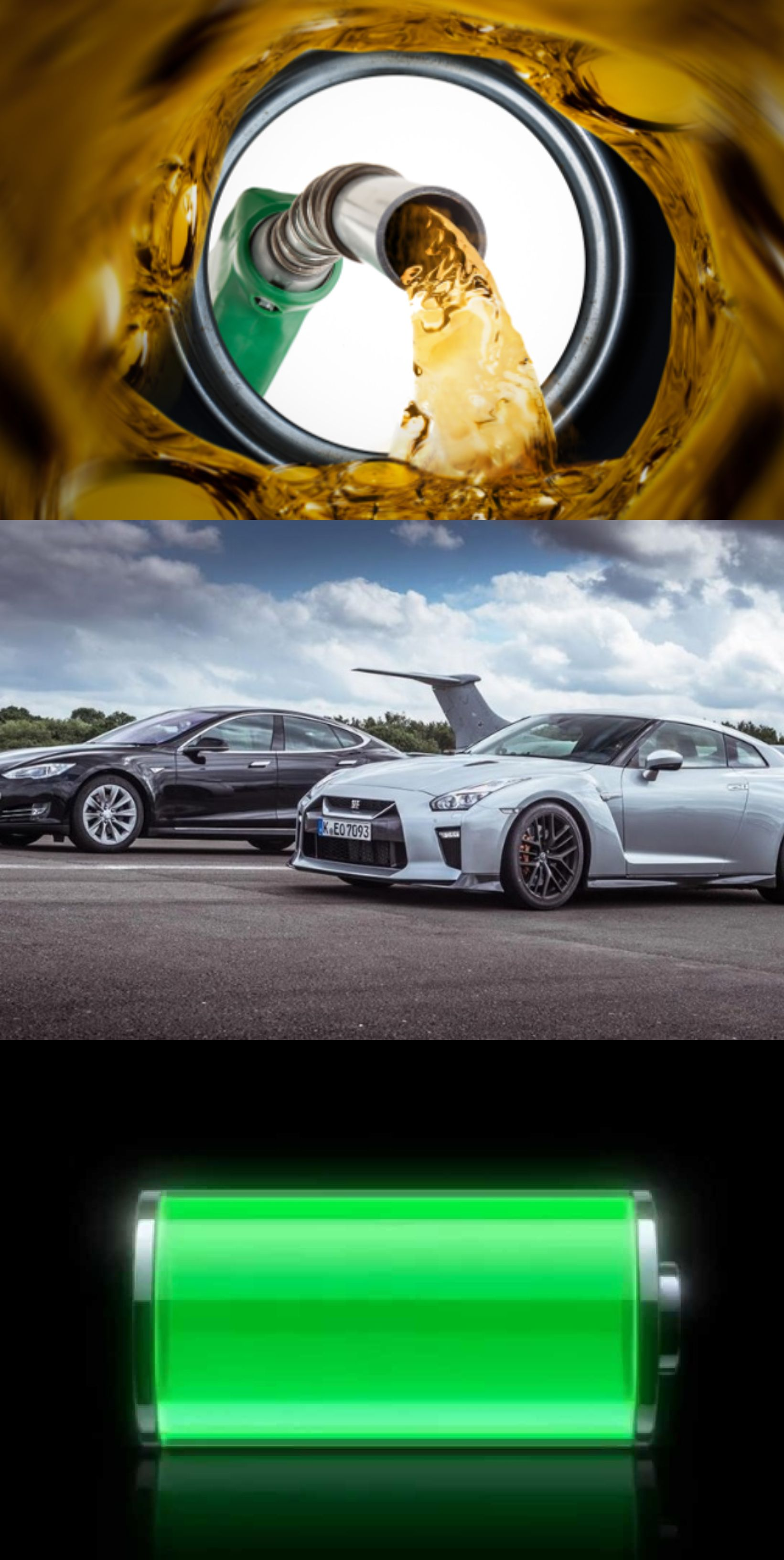 Tesla Vs Nissan Gtr The Ev And Ic Cars Are Totally Diffe Literally Two Worlds Starting From Refueling Driving Experience