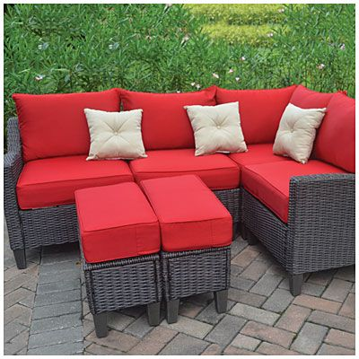 Oasis Cushioned Resin Wicker 6 Piece