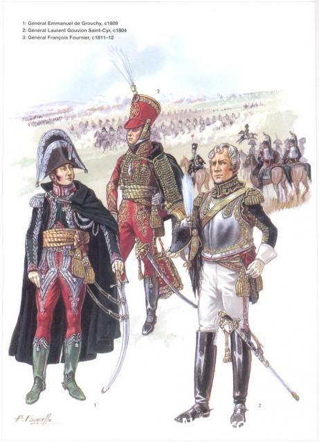 Napoleon's Commanders (2) 1809-1815 1_Général Emmanuel de Grouchy 1809 2_Général Laurent Gouvion Saint-Cyr 1804 3_Général Francois Fournier 1811-12