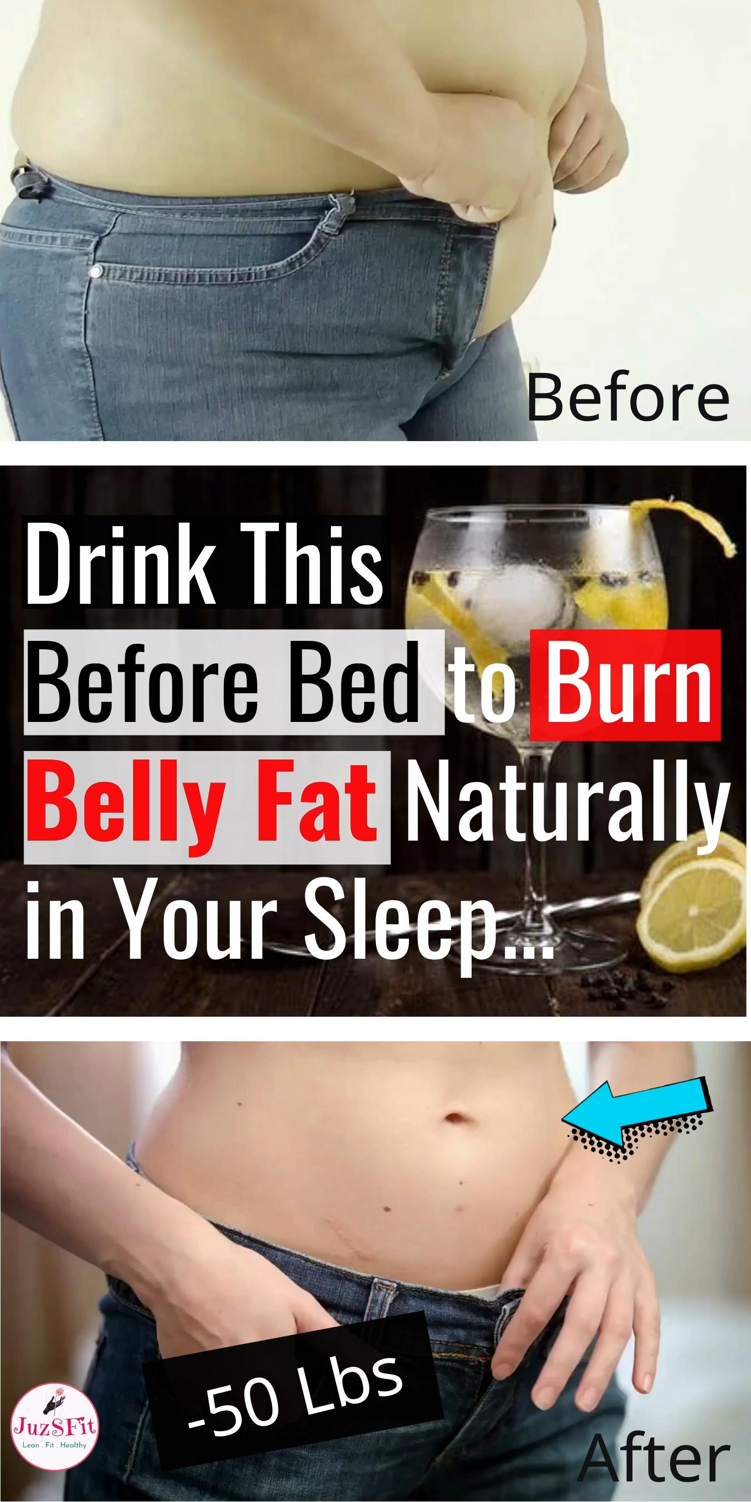 Drink This Before Bed to Burn Belly Fat Fast and N