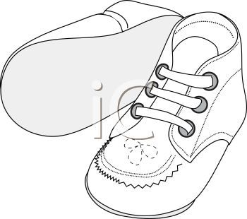 Baby Shoe Colouring Pages Clip Art Free Clip Art Colouring Pages