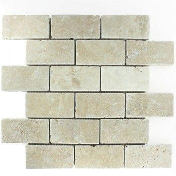 Travertin Fliese Chiaro Brick fliesenspiegel Pinterest Bricks - fliesenspiegel in der küche