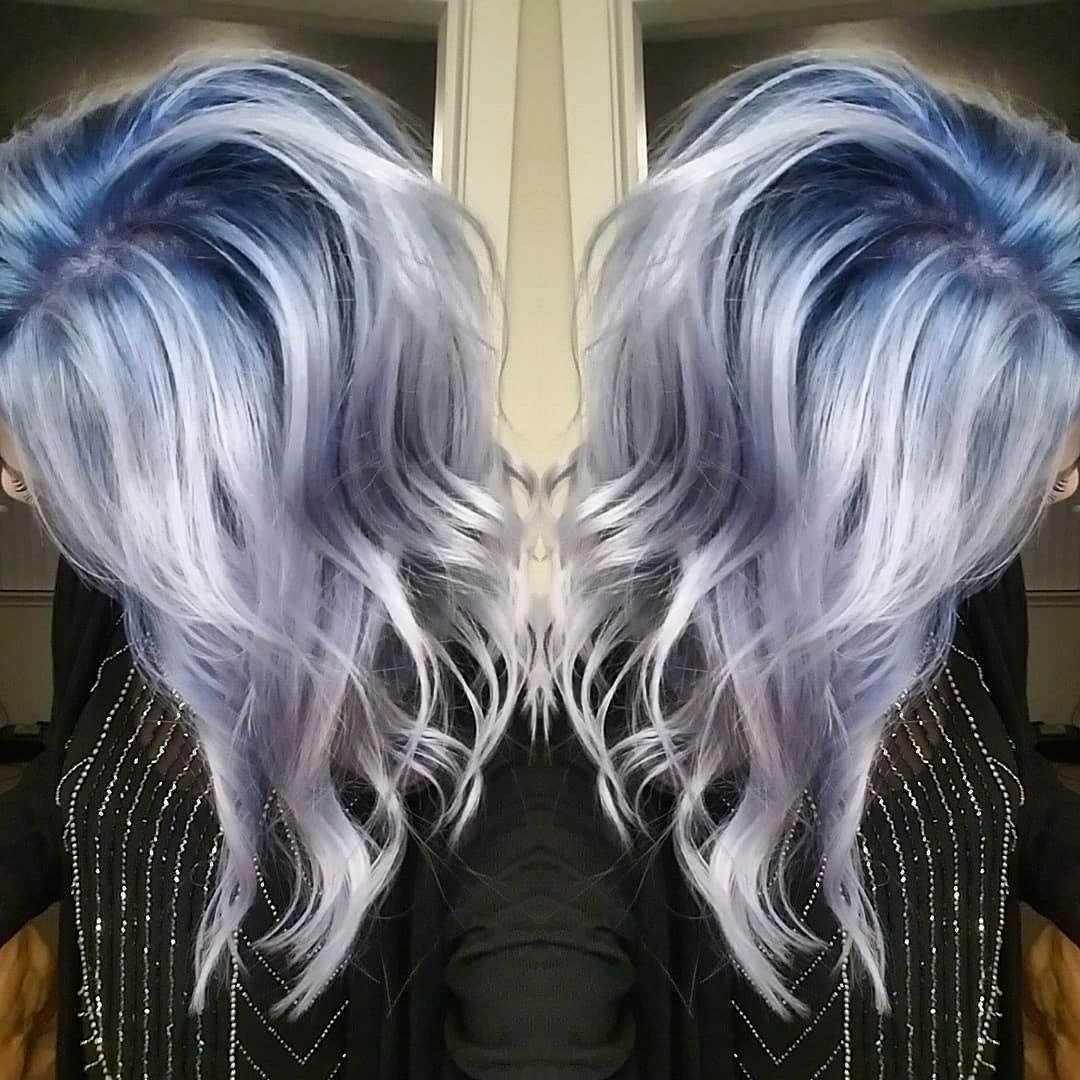 Idea By Kiyra Morris On Hair In 2020 Silver Blue Hair Blonde