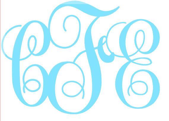 Vine Monogram Decal by PeachPerfectDesign on Etsy, $1.00