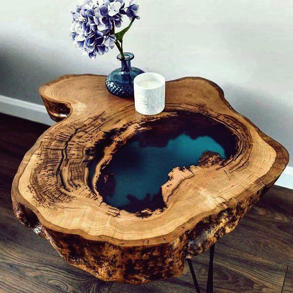 Die fabelhaftesten 15 Tische aus Epoxidharz