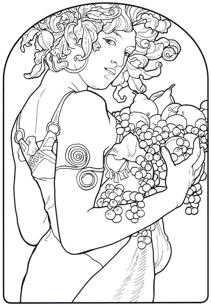 Creative Haven ART NOUVEAU DESIGNS Coloring Book By: Alphonse ...