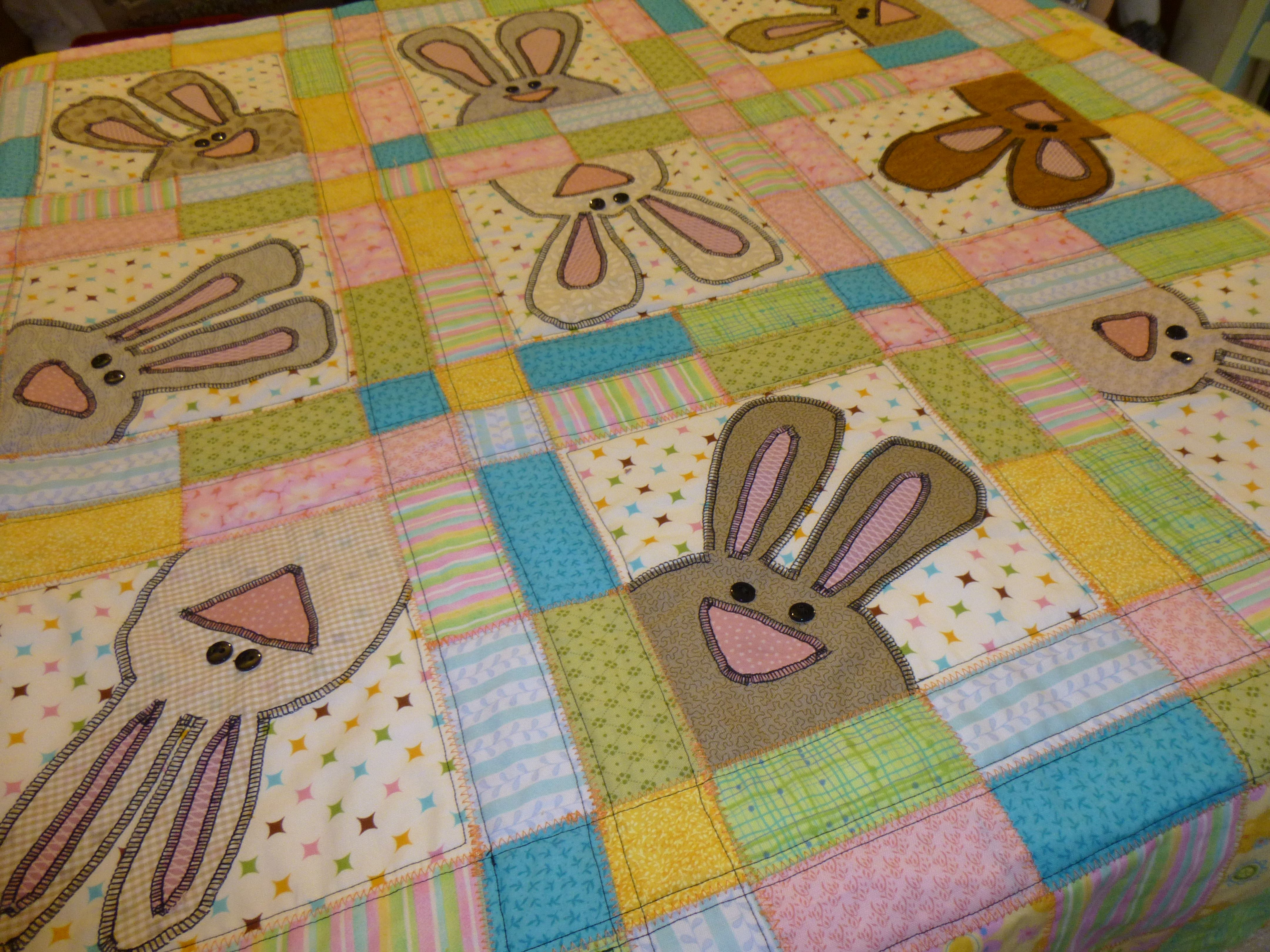 2 7 13 Easter Quilt My Own Design And Patterns Bunny