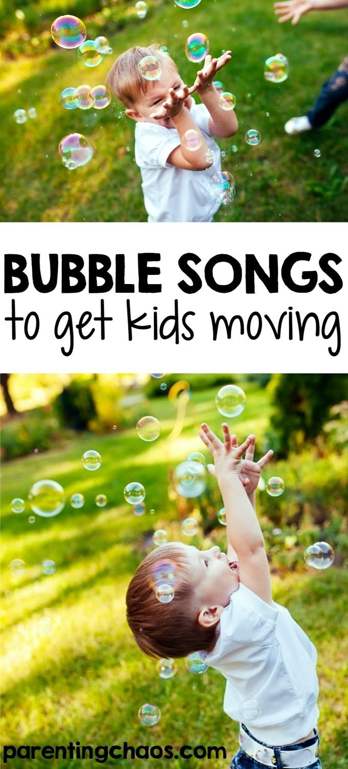 Bubble Songs to Get Kids Moving | Songs, Activities and Gross motor