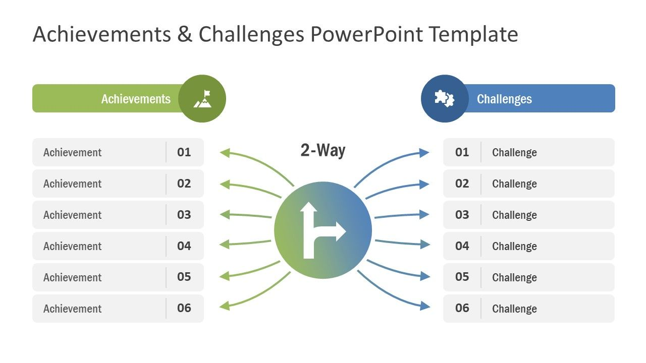 Achievements Challenges Powerpoint Template Slidemodel Powerpoint Templates Business Powerpoint Templates Powerpoint