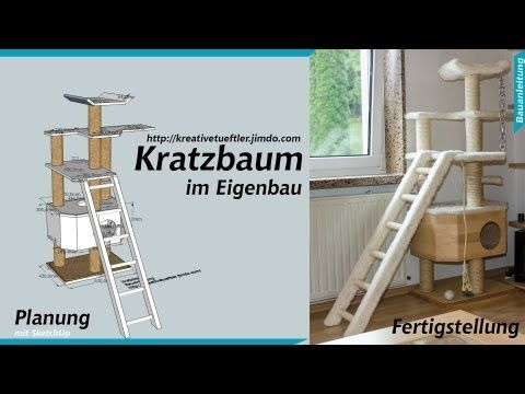 katzen kratzbaum selber bauen youtube katze. Black Bedroom Furniture Sets. Home Design Ideas