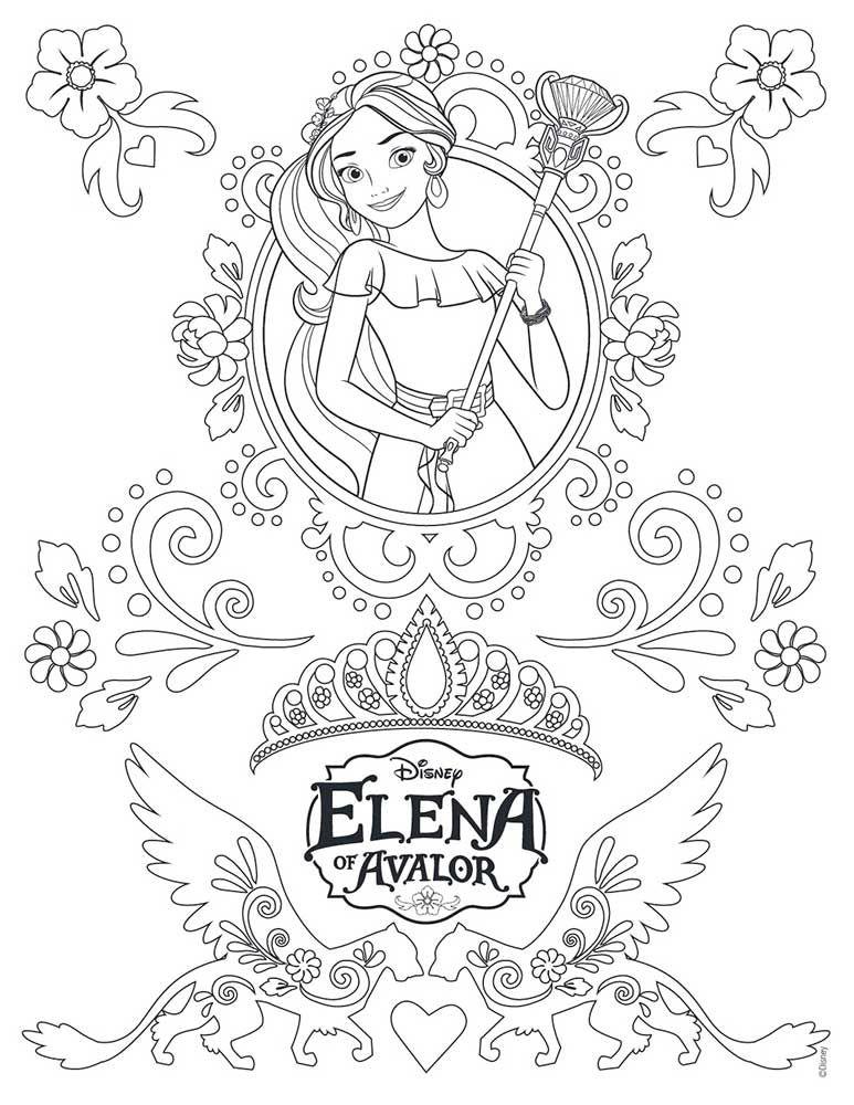 Dibujos Para Colorear De Elena De Avalor Fotos