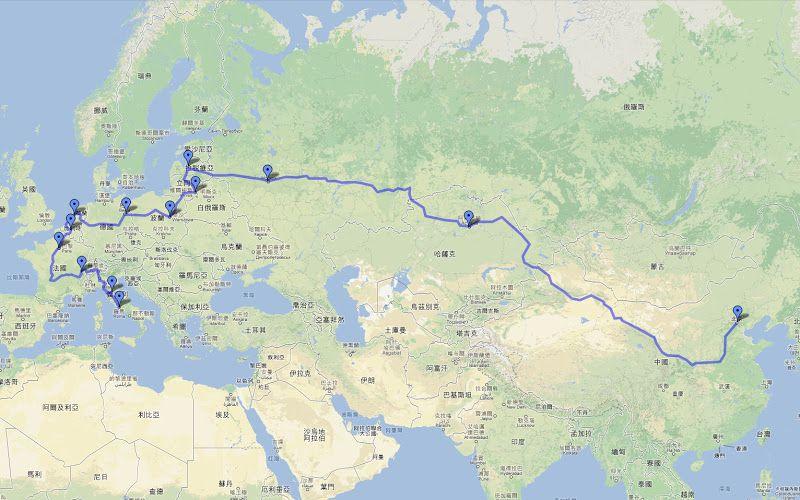 Road map trans Eurasia 2012