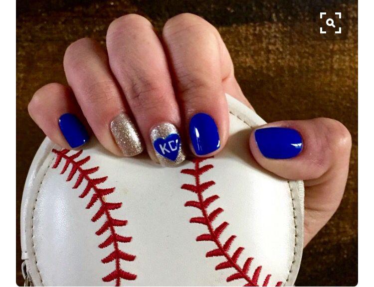 KC Royals Nails | NAILS! | Pinterest | Gorgeous nails and Make up