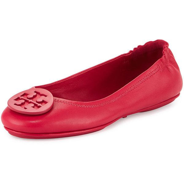 Minnie Patent Leather Travel Ballet Flat, Cerise by Tory Burch at Neiman  Marcus.