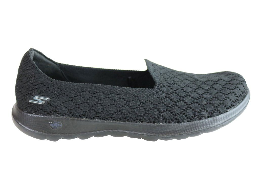 Skechers Womens Go Walk Lite Daisy Comfortable Slip On Casual
