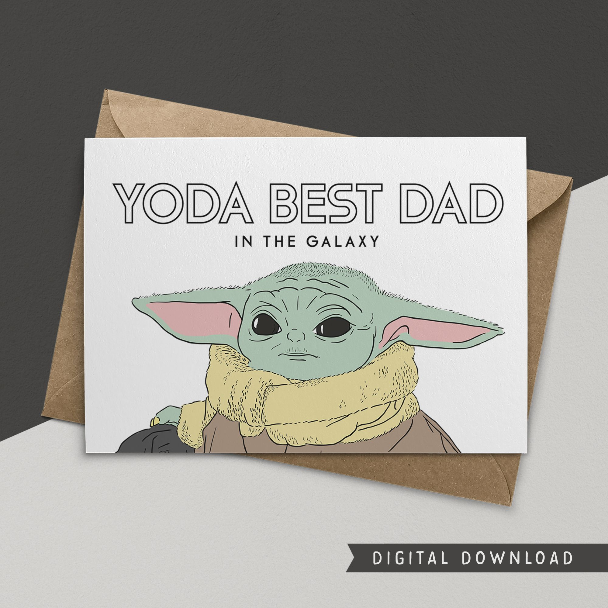 Buy 1 Get 1 Free Father S Day Card Instant Download Yoda Best Dad Funny Greeting Card Happy Dad Day Greeting Cards Card For Dad In 2021 Birthday Card Printable Yoda Card Funny Birthday Cards