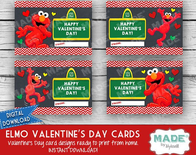 digital elmo valentines day cards kids valentines day cards sesame street diy valentines