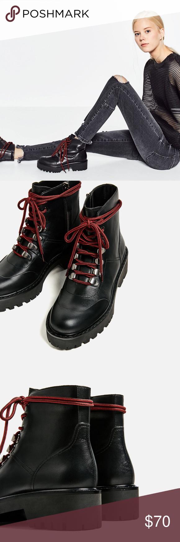 Zara Genuine Leather Boots. Zara 38 Zara Genuine Leather Boots. Zara 38 Zara Shoes Combat & Moto Boots