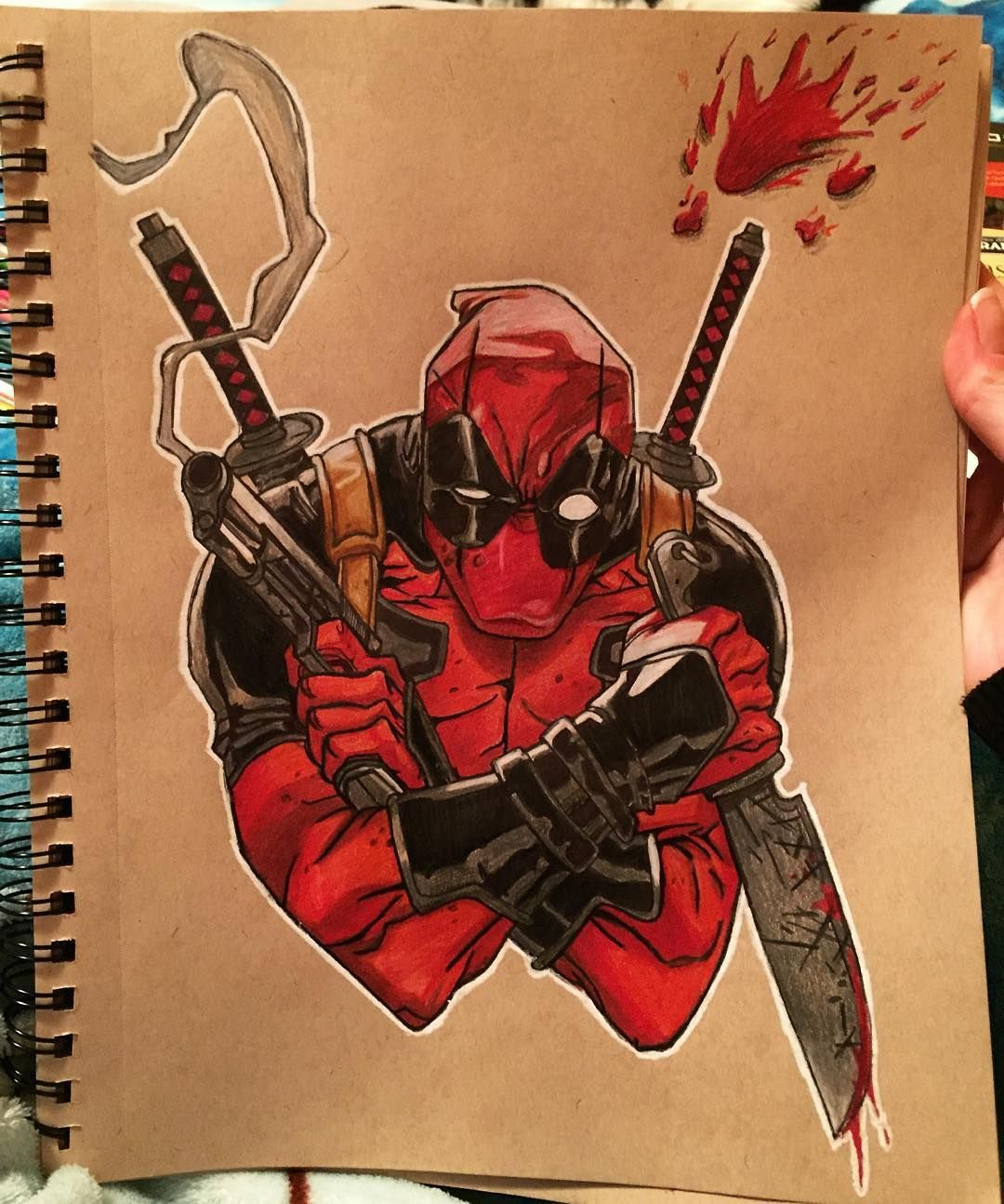 «He's done ☺️ #Deadpool #marvel #drawing #art #deadpoolart ...