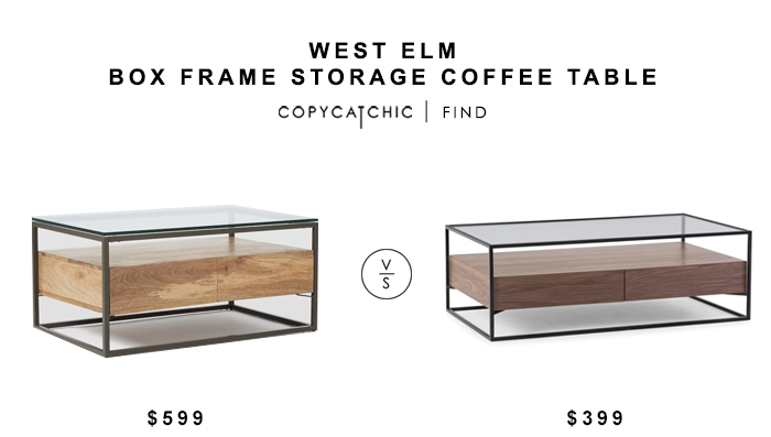 West Elm Box Frame Storage Coffee Table For 599 Vs Axel Coffee Table For 399 Copycatchic Luxe Livin Coffee Table Frame West Elm Coffee Table Diy Coffee Table