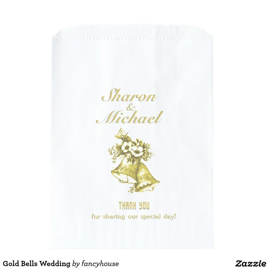 Gold Bells Wedding Favor Bag | Wedding favor bags, Favor bags and Favors
