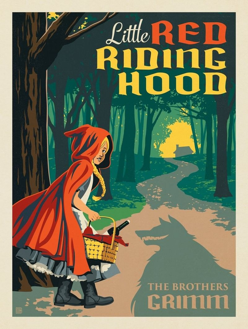 Anderson Design Group Literary Classics Little Red Riding Hood