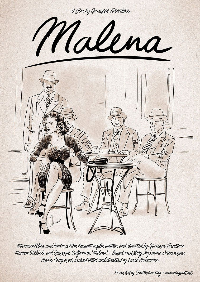 Eating Our Way Through Wisconsin Film_16 >> Malena Monica Bellucci Illustration By Christopher King Old Films