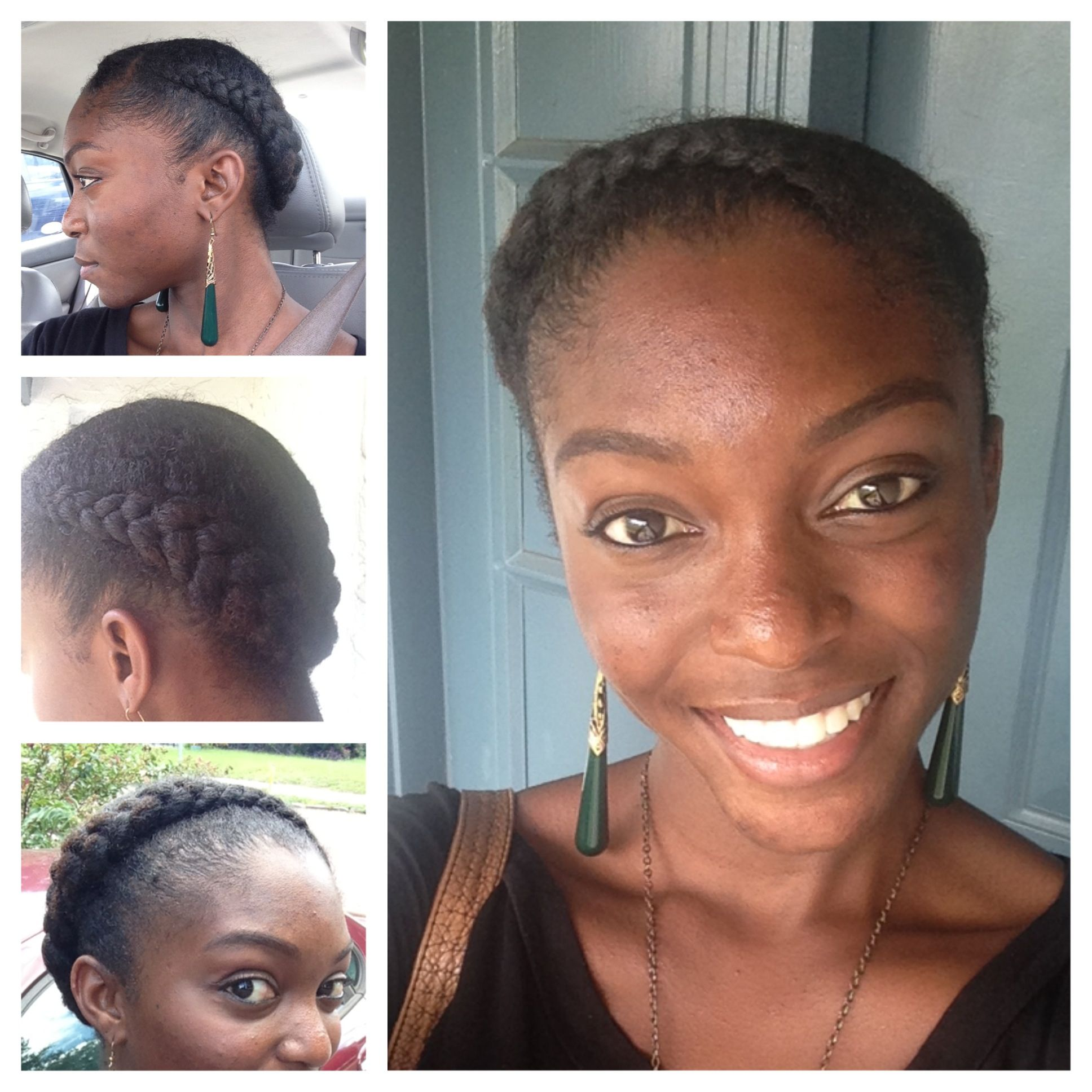 Natural hair style. Quick