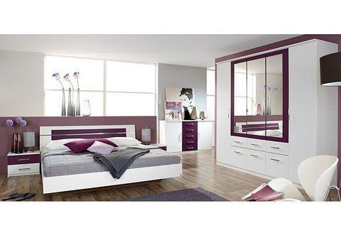 Rauch PACK`S Schlafzimmer (4-tlg) lila, mit Aufstellservice, mit - schränke für schlafzimmer