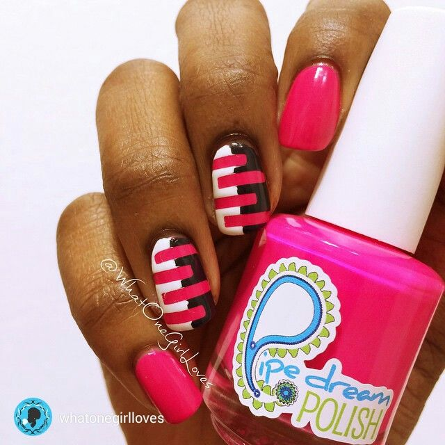 repost via @instarepost20 from @whatonegirlloves Happy Friday everyone! Today were getting electric...pink! Starring: On the List by #PipedreamPolish. I added some modern stripes using straight vinyls from #whatsupnails. Topped with #hkgirltopcoat. And....tutorial will be posted later Can't wait? Head to the link in bio. The accent nails were inspired by #pshiiit #instarepost20 www.pipedreampolish.com