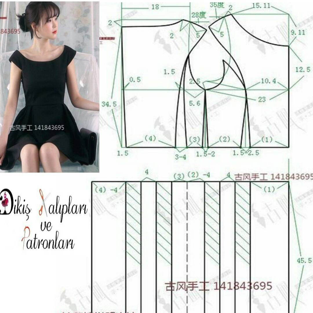 Interesting dress pattern | Patterns | Pinterest | Patrones, Costura ...